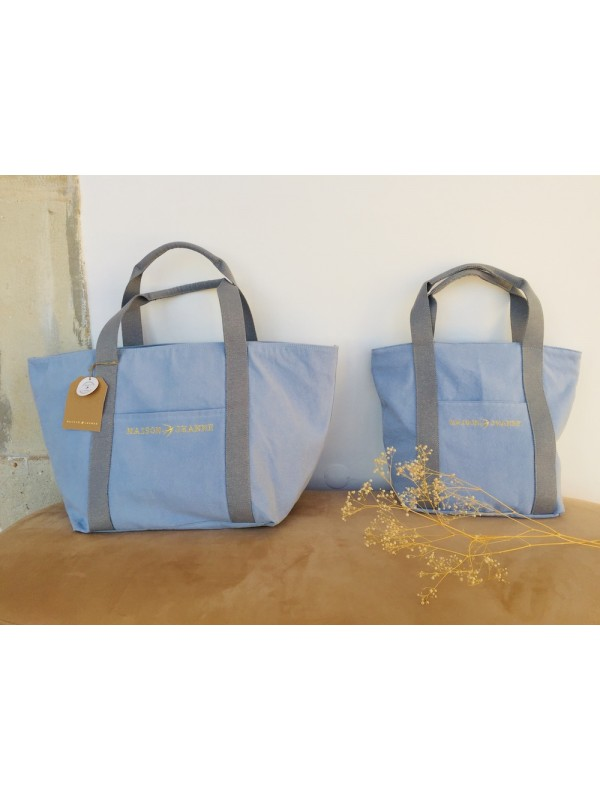 LILLY - Canvas Tote Bag Ice Blue