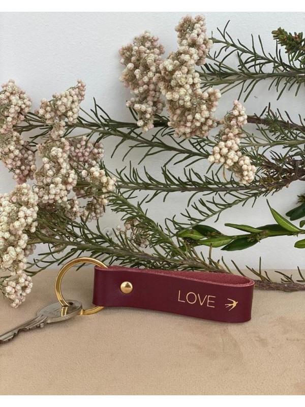 EMILIO - Bordeaux Leather Key-ring