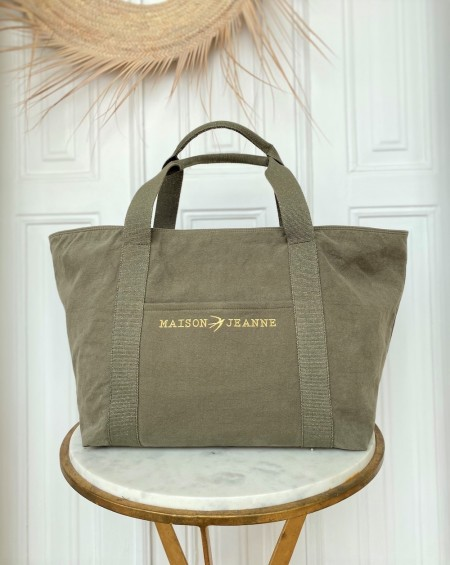 Large Cabas Tote bag Lilly Militar Green