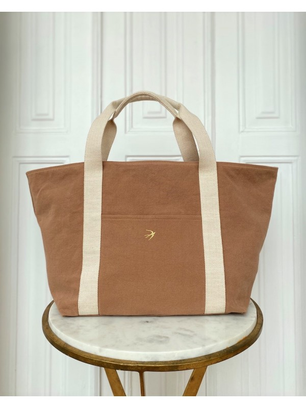 Large Tote bag Weekend Bag LILLY Camel