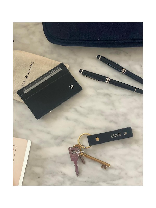 Porte-cartes cuir OLIVIER noir
