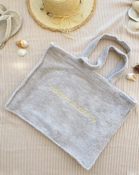 Terry Cloth Bag Christine - Gris Perle