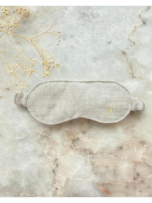 Masque de sommeil Hélène - lin Sable