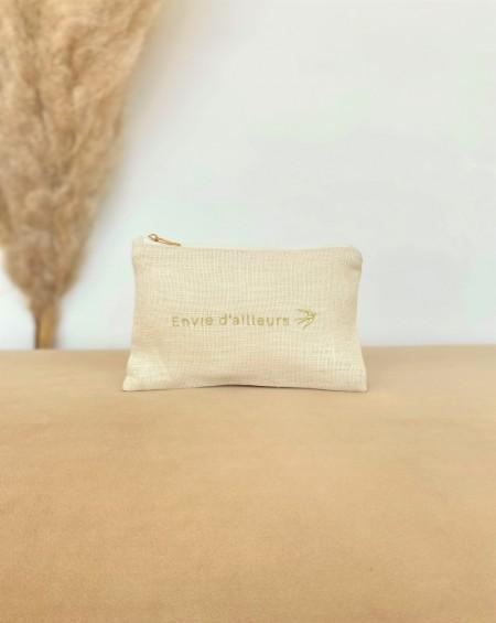 Small Pouch Madeleine - Seashell linen
