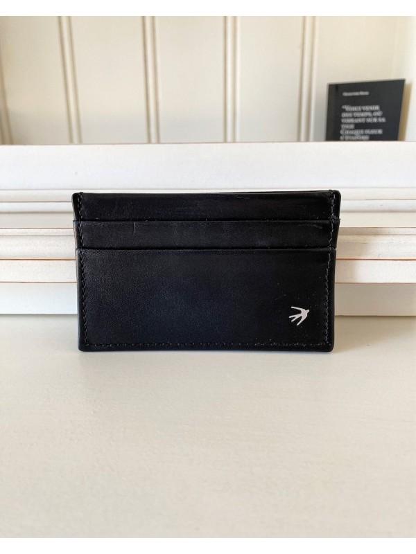Leather Cardholder Olivier - Black