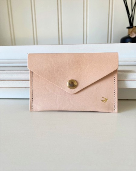 Leather Snap Wallet Suzanne - Natural