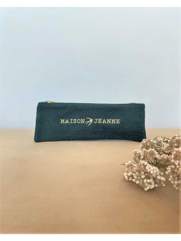 Pencil Case Nat - Pine Green