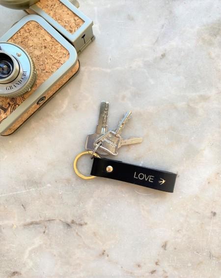 Leather Keychain Emilio - Black