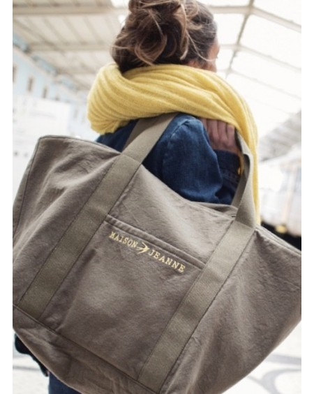 24HLILLYPLUS - 24H Canvas Tote Bag Khaki