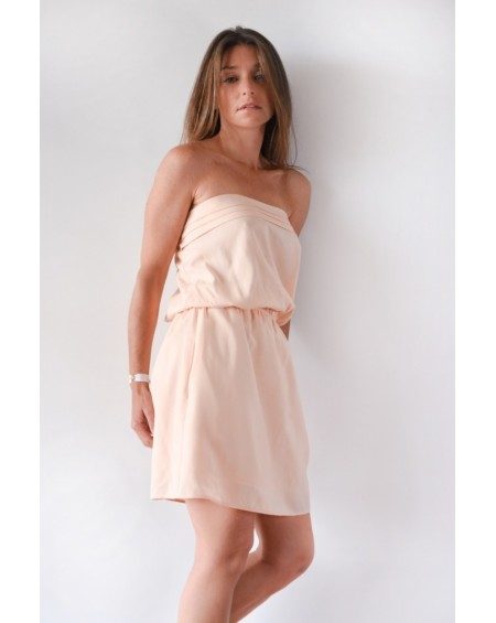 MARIE - The strapless nude dress