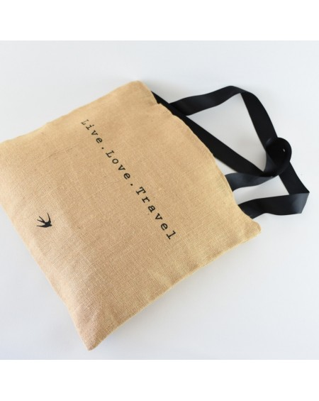 LIBERDADE - The Big Jute Tote Bag