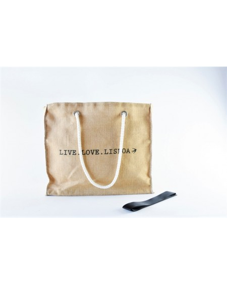 SABLE D'OR - Le Grand sac jute double anses